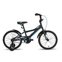 Велосипед 18'' PRIDE OLIVER черно-синий матовый 2016