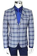 Мужской  пиджак приталенный в клетку №47/5 - Сavansa 6, фото 1