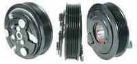 Шкив компрессора кондиционера в сборе Sanden SD7V16 (Opel / SAAB) 120mm/6pk 12V