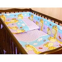 Ограждение в кроватку Жираф