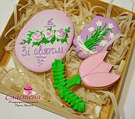 Оригинальный подарочный набор к 8 марта - расписное медовые имбирные пряники