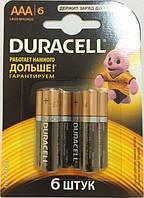 Батарейка DURACELL LR03  1х6