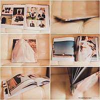 Свадебная фотокнига c фотообложкой 23х23 см на 10 разворотов  серии PrintBook