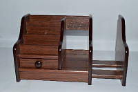 Органайзер, канцелярский настольный набор, бюро, темно-коричневый дерево №BJ-2009В