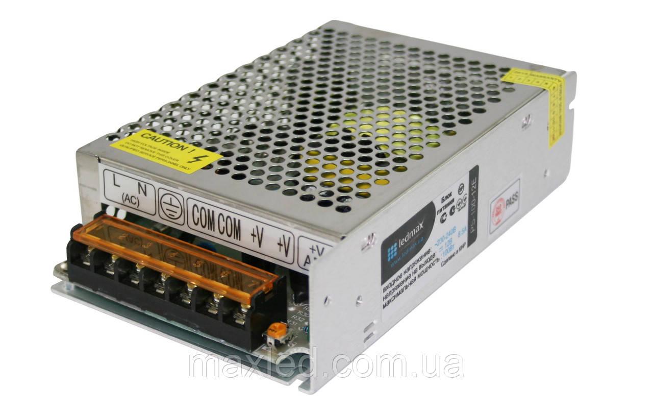 БП 12В 100Вт LEDMAX PS-100-12E