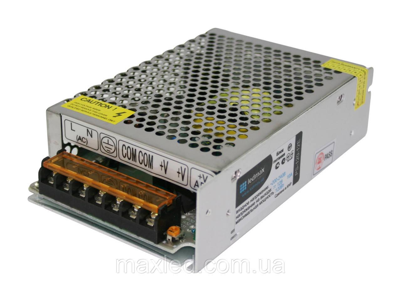 БП 12В 120Вт LEDMAX PS-120-12E
