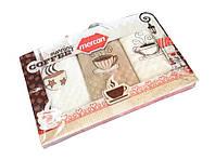 "Набор кухонных вафельных полотенец ""Mercan"" Coffee 45*65 3 шт."