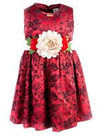 Красивое нарядное платье с цветком на девочку