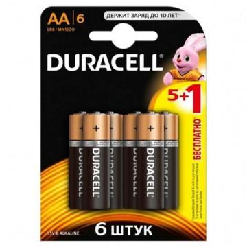 Батарейка DURACELL LR6  1x(5+1)