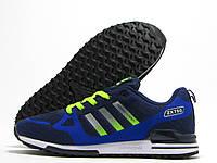 Кроссовки мужские Adidas Flyknit ZX 750 темно-синие (адидас флайнит)