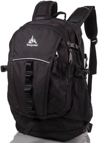 Мужской прочный городской рюкзак 22 л. Onepolar (Ванполар) W1300-black чёрный