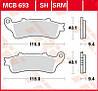 Тормозные колодки для скутеров и мотоциклов Honda TRW / Lucas MCB693SRM