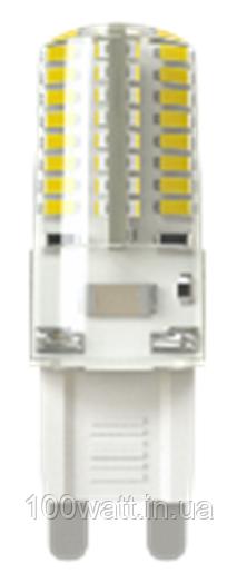 Лампа светодиодная G9 2700K 220v 5W капсула в силиконе