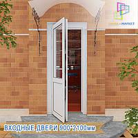 Пластиковые двери входные Вышгород/ЦЕНА, фото 1