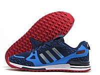 Кроссовки мужские Adidas Flyknit ZX 750 синие (адидас флайнит)