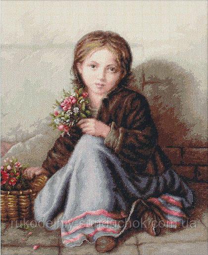 """Набор для вишивания гобелена """"Luca-S"""" G513 Девочка с цветами"""