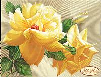 """Рисунок на ткани для вышивания бисером """"Роза флорибунда"""""""