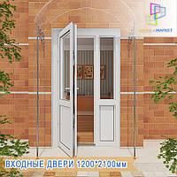 Металопластикові вхідні двері Глеваха, фото 1