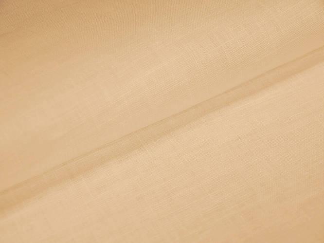 Персиковая льняная ткань 100% лен, цвет 981