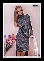 Платье-каскад серого цвета