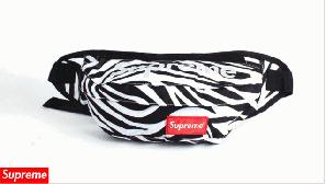 Поясна сумка Supreme (зебра) сумка на пояс
