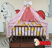 Комплекты:Кроватка для новорожденного с матрасиком и постельным бельем