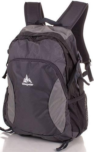 Городской рюкзак унисекс спортивного стиля 25 литров Onepolar W1798-1 синий, черный
