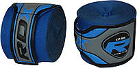Бинты для бокса RDX FIBRA BLUE 4.5M