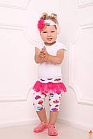 Детский комплект легинсы / лосины и повязка для девочки