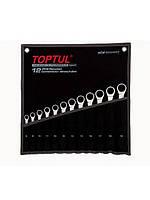 Набор ключей комбинированных с трещоткой 8-19мм в сумке, TOPTUL GPAQ1202