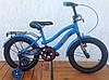 Велосипед детский 16 дюймов VELOX (VELOZ) синий, зеленый
