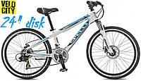 """Велосипед подростковый Spelli Cross 24"""" Disk белый, фото 1"""