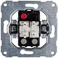 Механізм вимикача 1-тактового 2-клавішного (б/гвинт) 10А / 230В