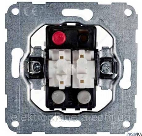 """Механізм вимикача 2-клавішного типу """"Контактор"""" для жалюзі 10А / 230В"""