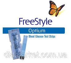 Тест-полоски Фристайл Оптиум (FreeStyle Optium) - 25 шт. - без картонной упаковки!