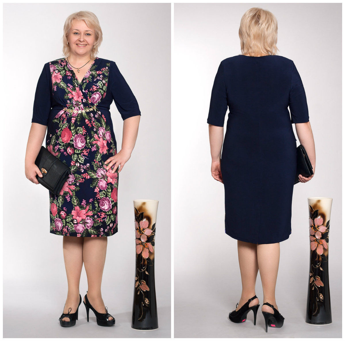 Модное платье 60 размера