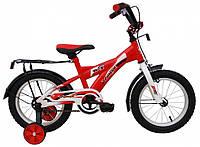 Детский велосипед 14 дюймов красный Veloz