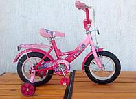 """Детский велосипед для девочки розовый 12""""   Velox Pink"""