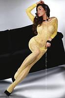 Эротический боди-комбинезон Abra yellow LC