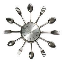 Настенные часы вилки - ложки Silver Fork
