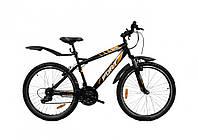 """Недорогой велосипед Fort T2  26"""" черно-оранжевый, фото 1"""