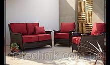 Набор садовой мебели Sumatra 3 Piece Conversation Sofa Set - Chilli Red
