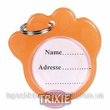 Медальон-адресник Trixie с фосфоресцентным покрытием, пластик 3,5 см