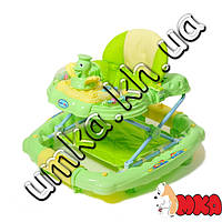 Ходунки Baby Tilly 6221 SY GREEN с утенком
