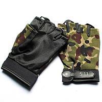 Тактические беспалые перчатки 5.11 (реплика) , камо