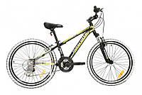 Подростковый велосипед Mascotte Team 24 v-brake черный, фото 1