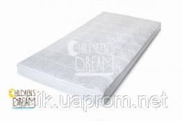 Матрас в детскую кроватку 120*60 белого цвета (кокос-поролон-гречка) 8 см.