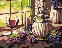 Раскраска по номерам Вино (RS-N0001320) 30х40 см
