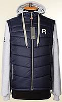 """New! Разборная молодежная куртка-жилет """"Reebok"""" с отстегивающимися рукавами и съемным капюшоном для подростков"""