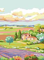 Раскраска по номерам Лавандовое поле (RS-N0001319) 30х40 см